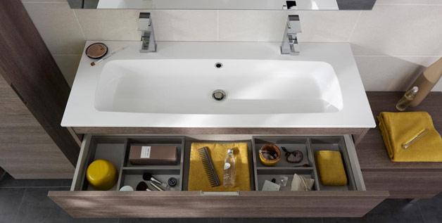 Stunning Meuble Vasque Deux Robinets Ideas - House Design ...