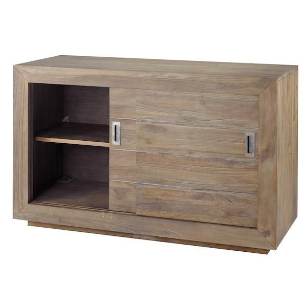 Meuble bas pour chambre meuble de rangement bas orlando for Meuble salle de bain sans porte