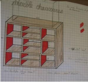 meuble chaussures sur mesure. Black Bedroom Furniture Sets. Home Design Ideas