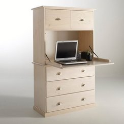 Meuble de bureau refermable for Meuble bureau secretaire informatique