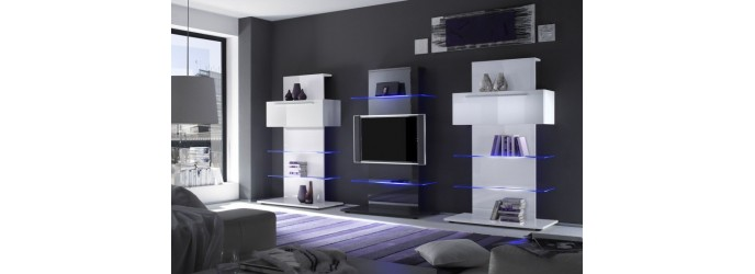 Meuble tv mural lounge solutions pour la d coration for Meuble mural hifi