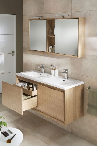 Meuble salle de bain lapeyre - Meuble de cuisine dans salle de bain ...