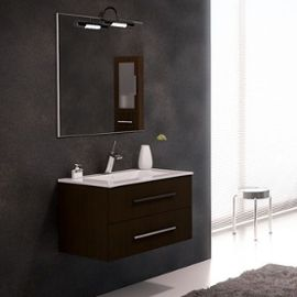 meuble salle de bain wengé 80 cm
