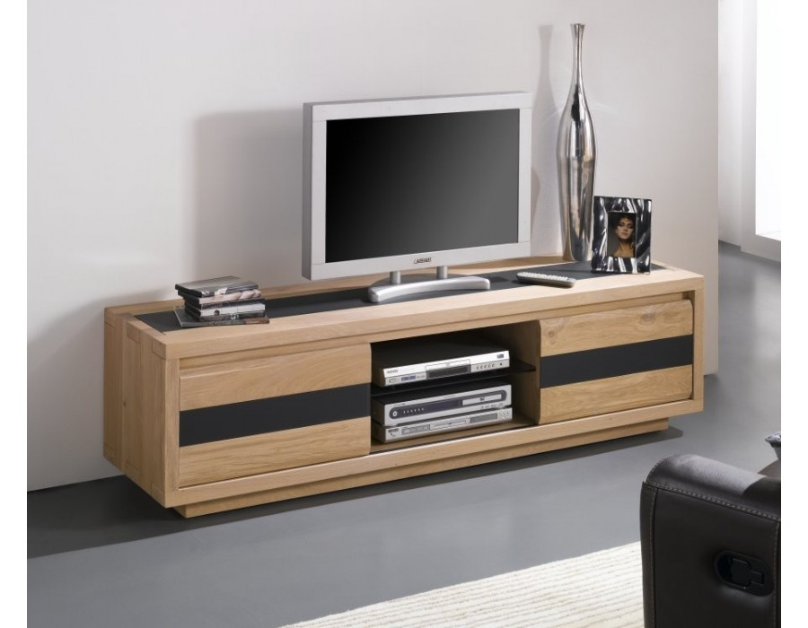 meuble tv bas en chene massif. Black Bedroom Furniture Sets. Home Design Ideas