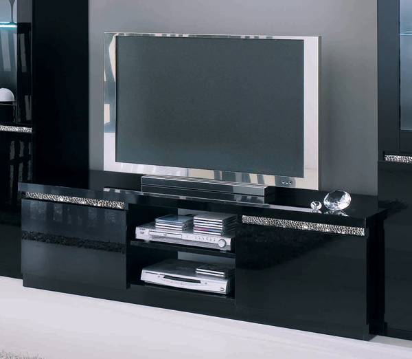 meuble tv design bois massif sienna. Black Bedroom Furniture Sets. Home Design Ideas