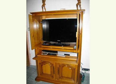 meuble tv haut chene massif. Black Bedroom Furniture Sets. Home Design Ideas