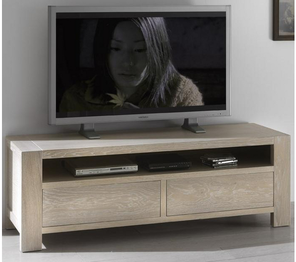 meuble tv haut chene massif en ligne. Black Bedroom Furniture Sets. Home Design Ideas
