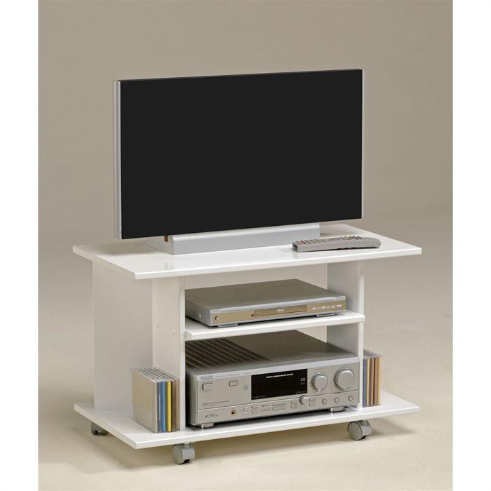 modle meuble tv haut roulettes - Meuble Tv Blanc Sur Roulettes