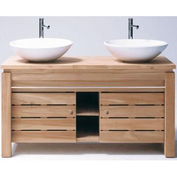 Meuble vasque en bois photos de conception de maison for Meuble une vasque