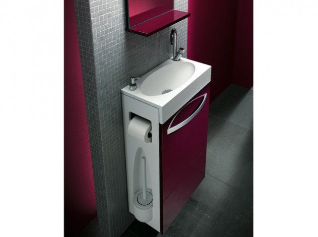 Photo meuble vasque wc leroy merlin - Petit meuble vasque wc ...