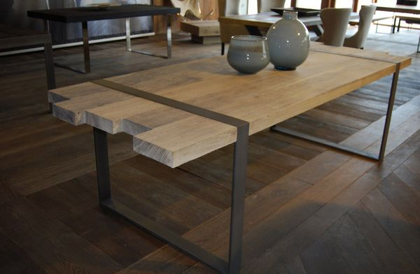 Table Style Industriel Stunning Table Basse En Acier Old School