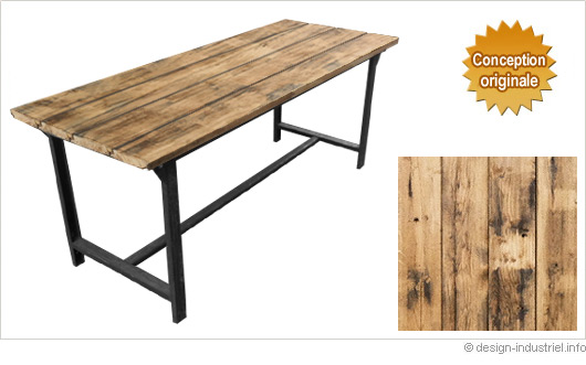 Table a manger style industriel for Table salle a manger style industriel
