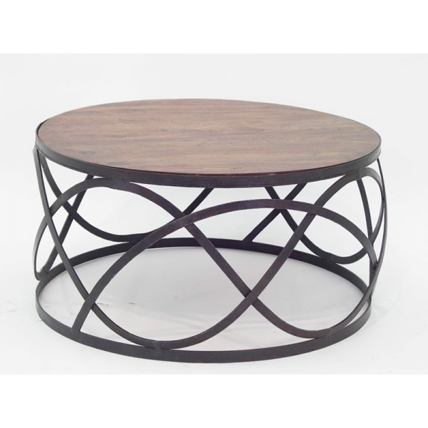 Table basse fer forge - Table basse bois et fer ...