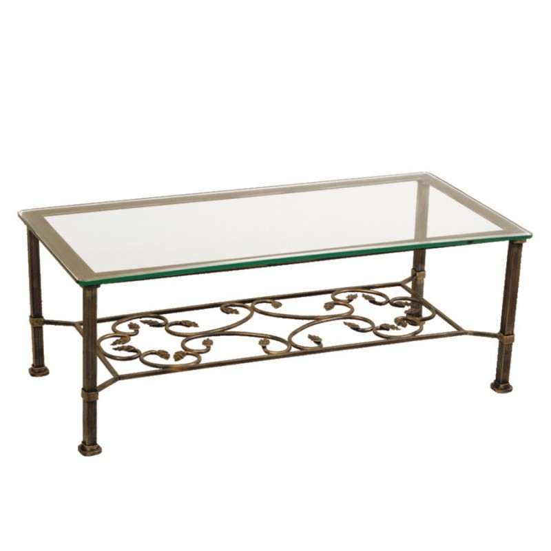 Mod le table basse fer forge - Table basse fer forge et bois ...