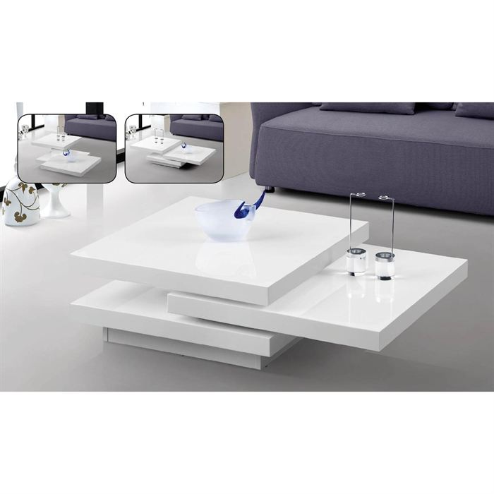 Exemple Table Basse Laque Blanc