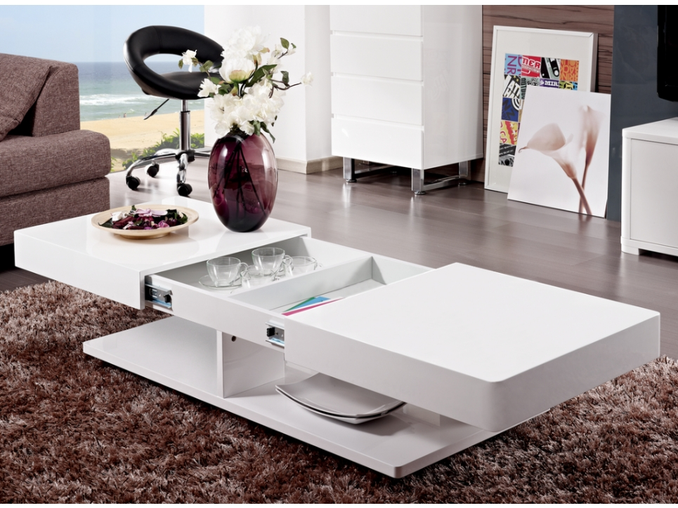 Mod le table basse laque blanc for Table basse blanc laque