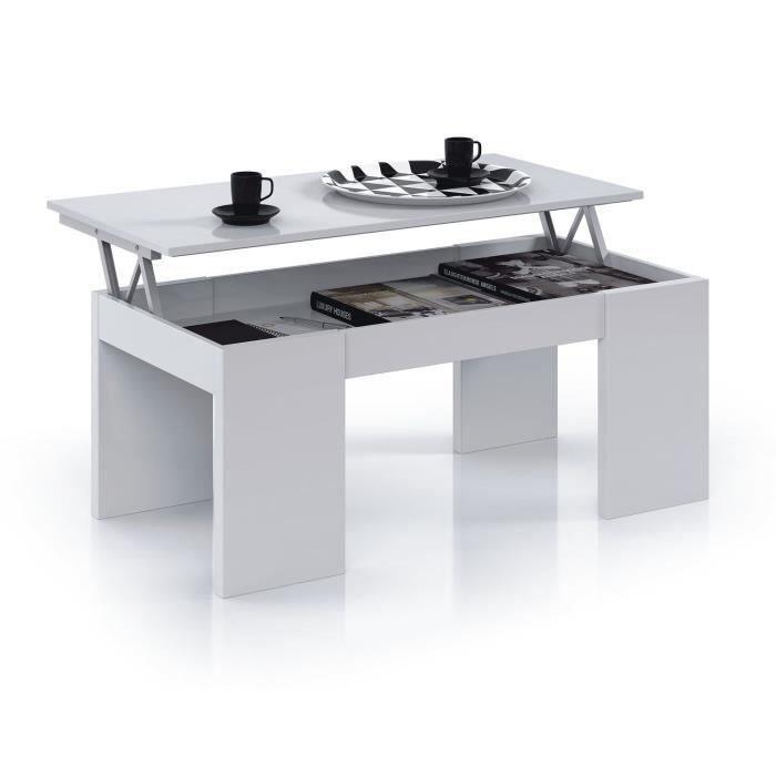 wonderful table de salon escamotable #13: table basse avec plateau