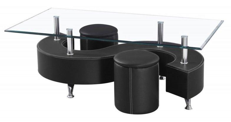 Table basse s lidos avec 2 poufs decor wenge - Table basse avec 2 poufs ...