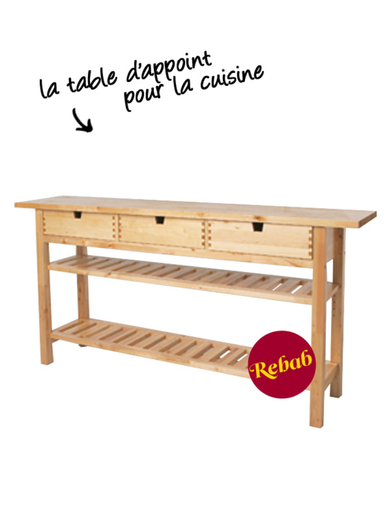 Table d 39 appoint ikea norden for Table console pour cuisine