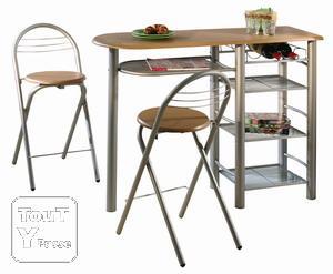 Table de bar tabouret - Table basculante cuisine ...