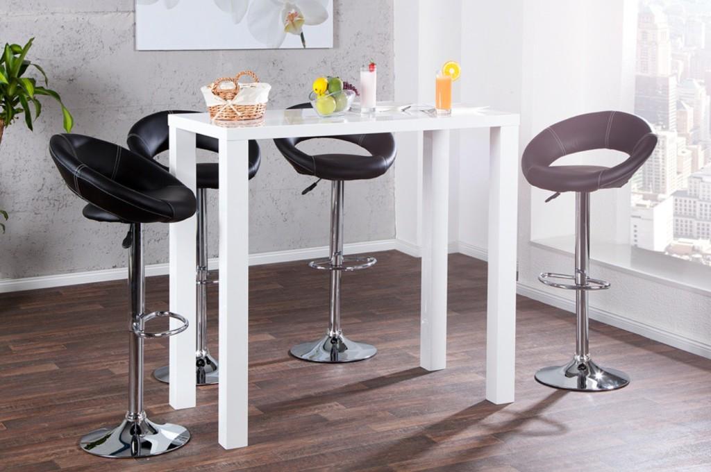 Table De Bar Betty Blanc Laque
