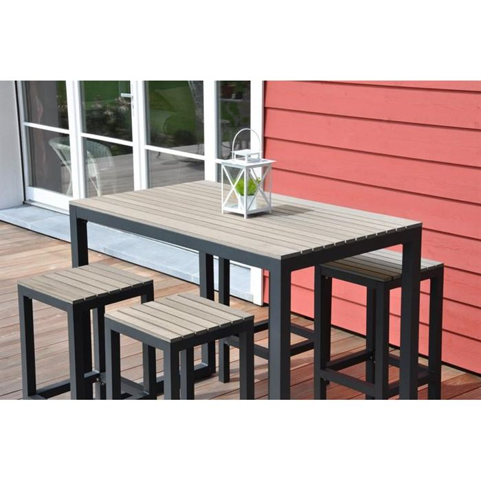 Awesome achat table haute de jardin contemporary for Achat table bar