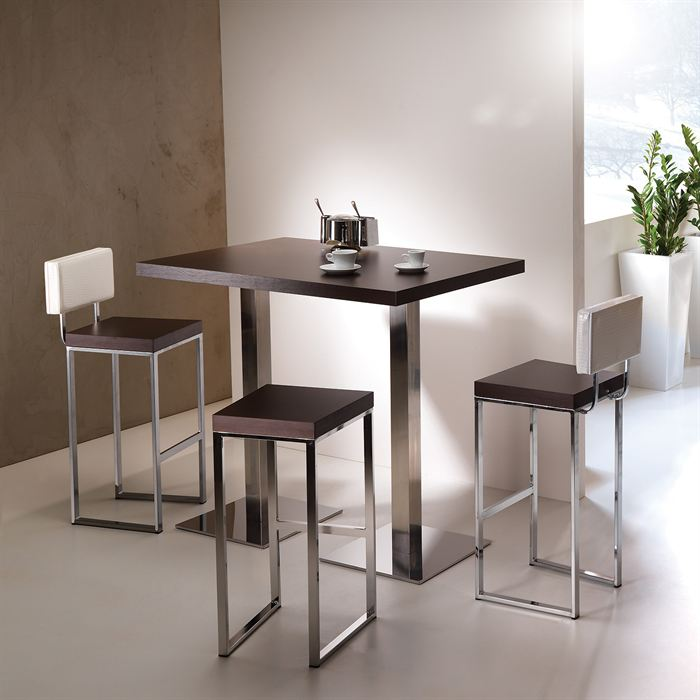 Table de bar haute noire for Table de bar pour cuisine