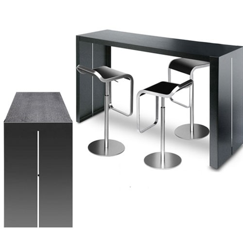 table de bar haute noire. Black Bedroom Furniture Sets. Home Design Ideas
