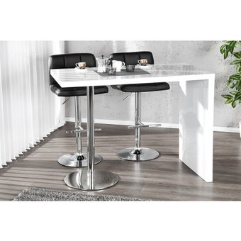 Table de bar tomy - Table de bar blanc laque ...