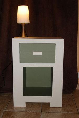 table de chevet en carton atelier retouche paris. Black Bedroom Furniture Sets. Home Design Ideas