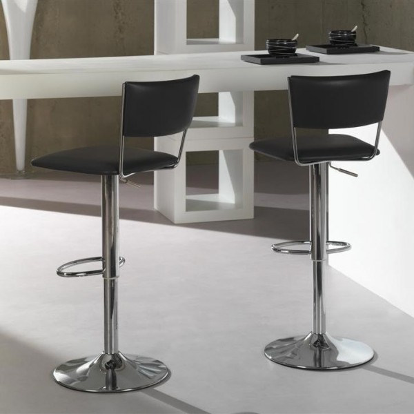 photo tabouret de bar gris anthracite. Black Bedroom Furniture Sets. Home Design Ideas