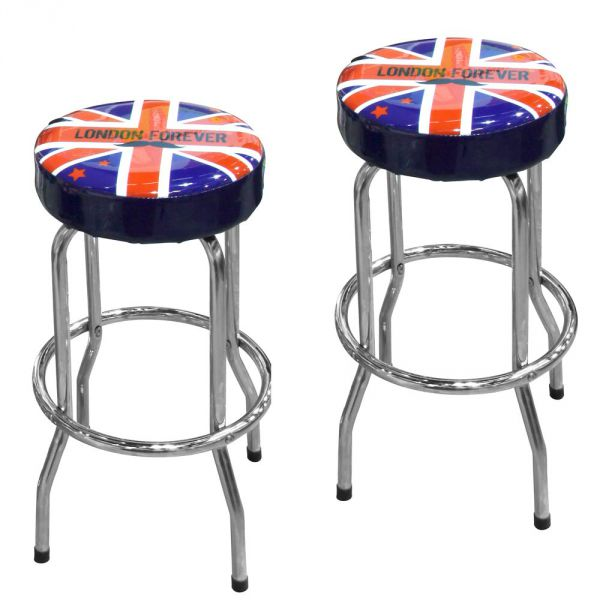 tabouret de bar union jack