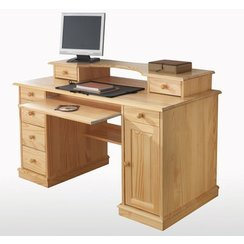armoire de bureau en bois massif. Black Bedroom Furniture Sets. Home Design Ideas