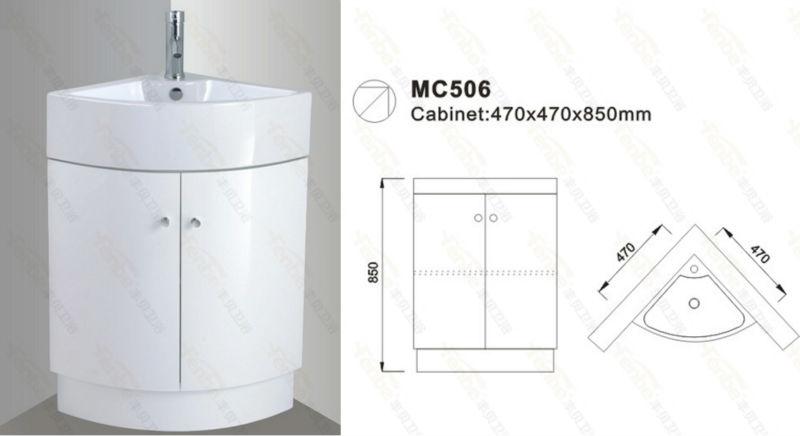 armoire salle de bain en coin