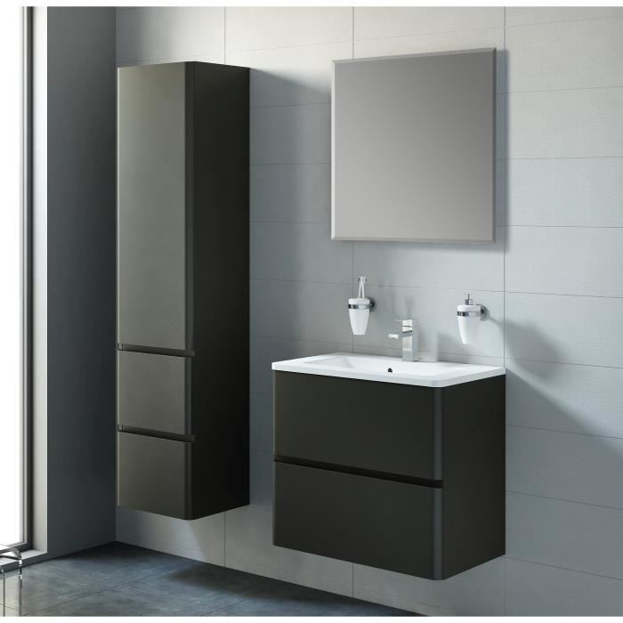 armoire salle de bain noir laque. Black Bedroom Furniture Sets. Home Design Ideas