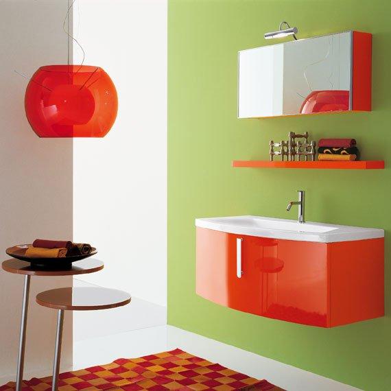 Emejing Meuble De Salle De Bain Orange Pictures - House Design ...