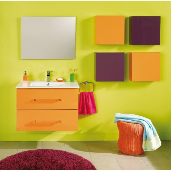 exemple armoire salle de bain orange. Black Bedroom Furniture Sets. Home Design Ideas