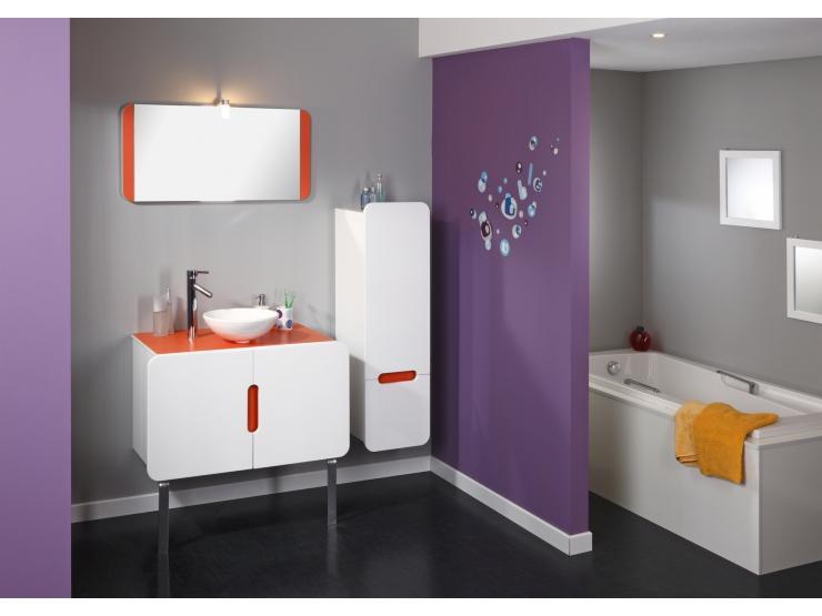 Armoire salle de bain orange for Modele armoire salle de bain