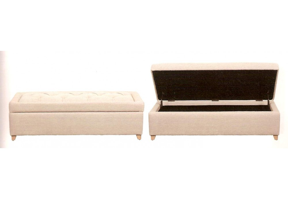 banc de lit blanc d 39 ivoire. Black Bedroom Furniture Sets. Home Design Ideas