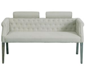 banc de lit blanc d'ivoire