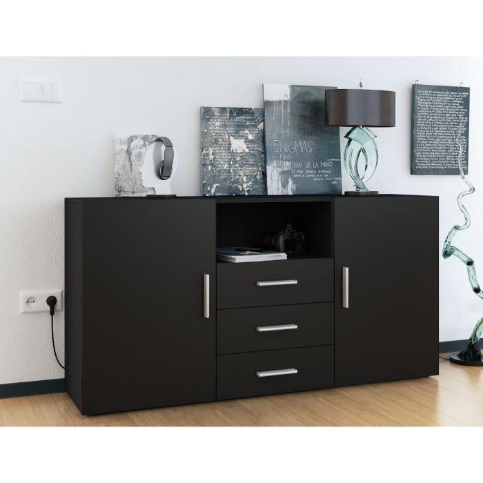 buffet noir mat. Black Bedroom Furniture Sets. Home Design Ideas