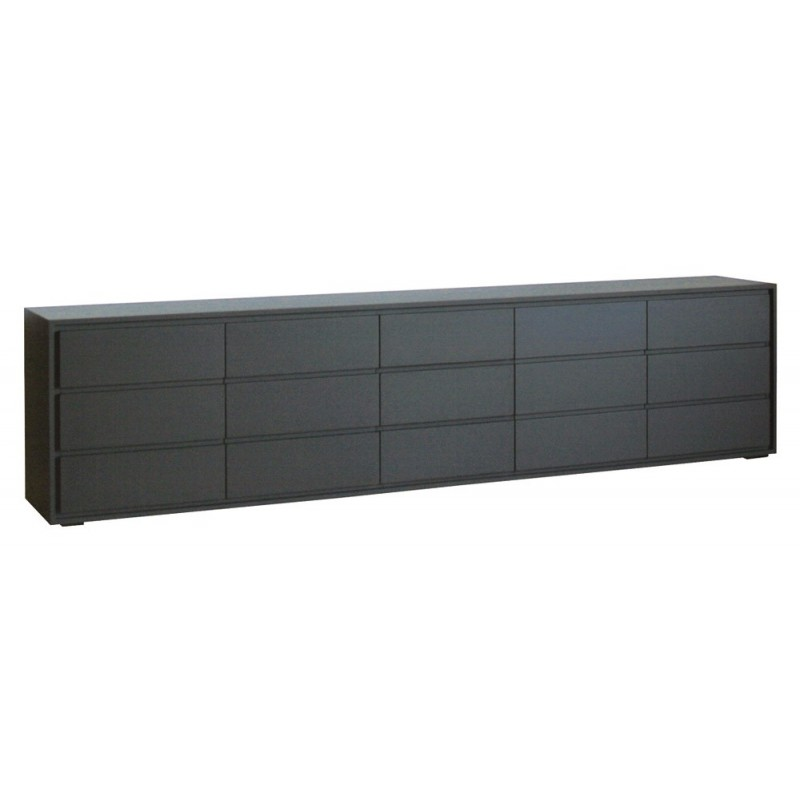 Buffet bas noir mat for Meuble bas salon noir