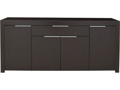 Buffet bas wenge ikea for Meuble bureau wenge