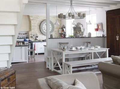 Awesome Deco Cuisine Campagne Chic Pictures - Design Trends 2017 ...