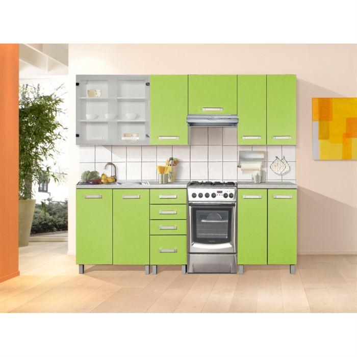 Buffet de cuisine vert anis for Meuble cuisine vert anis