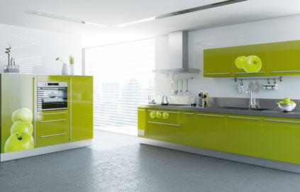 Buffet de cuisine vert anis - Composition du sel de cuisine ...