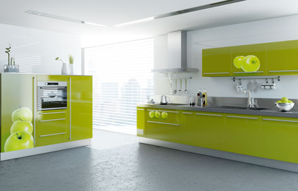 buffet de cuisine vert anis. Black Bedroom Furniture Sets. Home Design Ideas