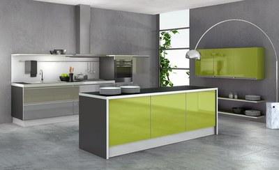 Buffet de cuisine vert anis - Meuble cuisine vert anis ...