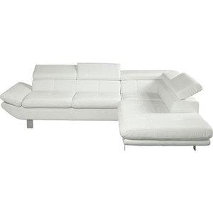 Canape d 39 angle blanc but - Canape blanc conforama ...