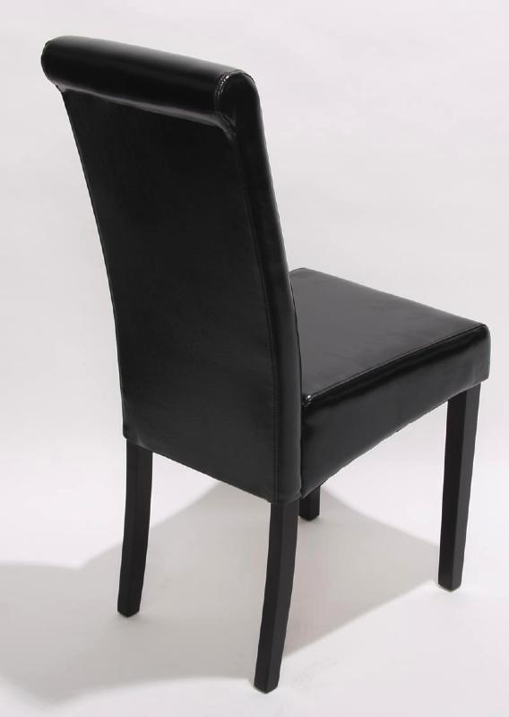 photo chaise de salle a manger simili cuir noir. Black Bedroom Furniture Sets. Home Design Ideas